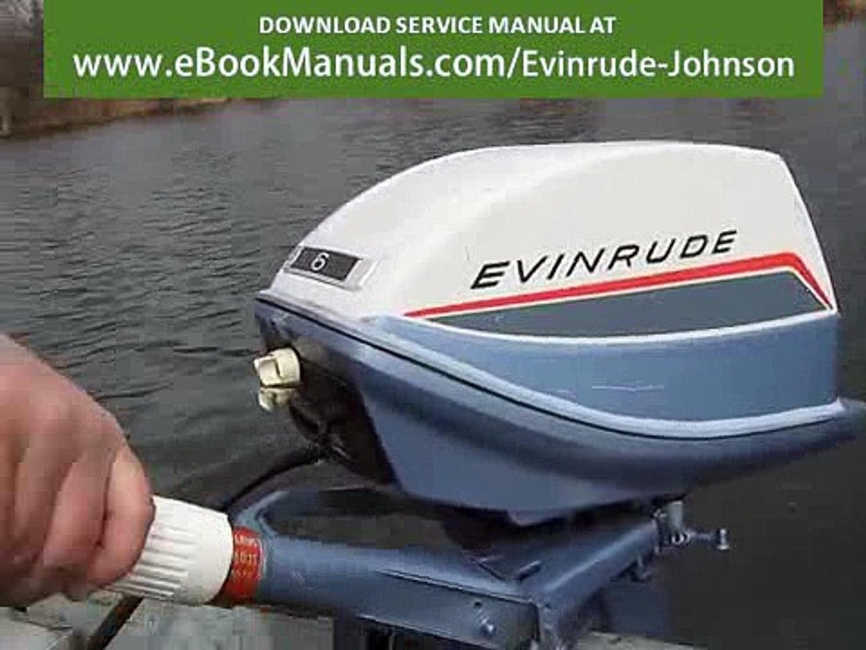 Evinrude Fisherman 6hp outboard motor