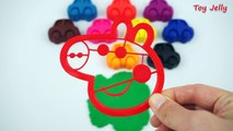 Learn Colors! Play Doh Peppa Pig Cars Molds Fun & Creative for Kids Nursery Rhymes