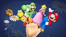 Finger Family Rhymes Super Mario Cartoons Games | Super Mario Finger Family Children Nursery Rhymes