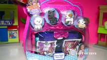 Shopkins Surprise and Cute Puppies!!! My Purse Pets Carry Case and Adorable Puppies