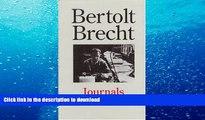 Download [PDF]  Bertolt Brecht: Journals 1934 - 1955 Bertolt Brecht For Kindle