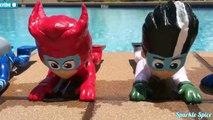 Learn Colors PJ MASKS Disney Jr. Gekko, Owlette, Catboy, Romeo Playdoh Toy Surprises Water