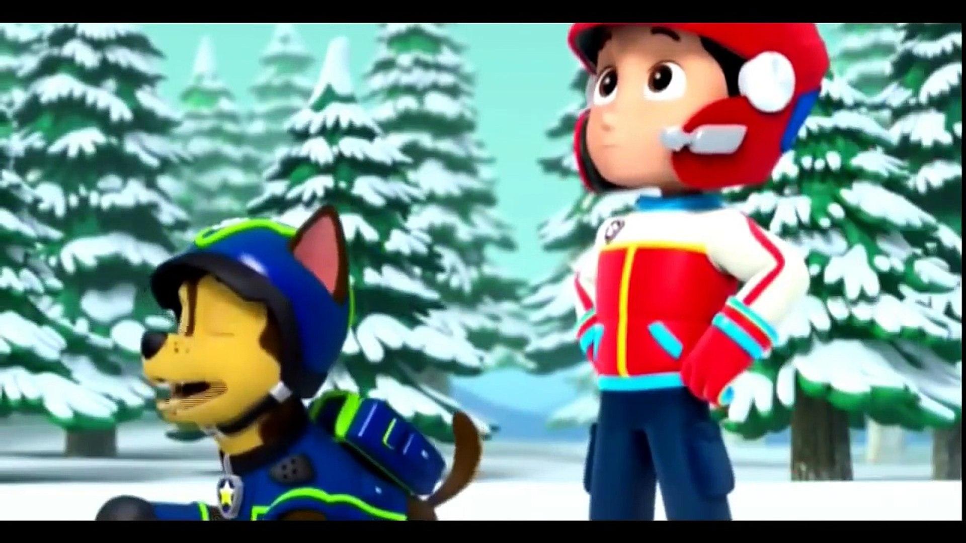 Щенячий патруль щенки спасают скай зимой