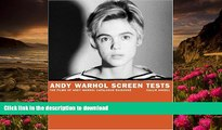 [PDF]  Andy Warhol Screen Tests: The Films of Andy Warhol Catalogue Raisonne (Andy Warhol