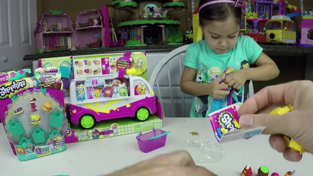 SUPER COOL SHOPKINS ICECREAM TRUCK SHOPKINS S3 BLIND BASKETS Surprise Toys Kid Friendly Toy Opening