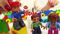 BOB the Builder Can't Count! TOY TRAINS Number Game with LEGO Construction Toy Trucks Learn Numbers