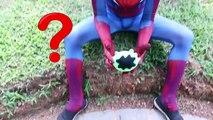 Spiderman SUPERHERO SPELL! w/ Frozen Elsa Joker Maleficent Pink Spidergirl TOYS! Superhero Fun