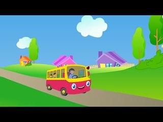 Wheels on the bus - nursery rhyme with lyrics