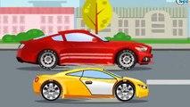 Der Rote Lastwagen und Der Bagger Die große Autos für Kinder Cartoon für Kinder