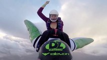 Skydivers Ride Wingsuit Pilots In Epic 'Aerial Rodeo'