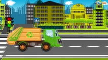DESSINS ANIMÉS. Voitures et camions - Tracteur, Pelleteuse, Grue, Camion - La voiture pour enfants