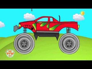 Monster Truck   Kids videos   kids games   videos for children