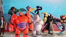 Disney Big Hero 6 Figure Play Set Baymax, Hiro Hamada Honey Lemon Wasabi Go Go Tomago Toy Review