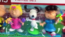 Peanuts Figure Set Lucy and Linus Charlie Brown playdoh and Sally full set disney playsets disney