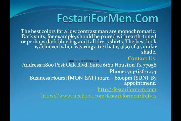 Houston local custom dress shirts – FestariForMen.Com –  Festari For Men – Tailored dress shirts online