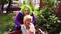 Frozen Elsa kidnapped w/ Spiderman vs Joker Fun Superhero Movie in Real Life