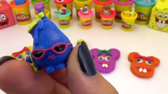 Peppa Pig Play Doh Mickey Mouse Surprise Eggs Minnie Mouse Shopkins egg Surprise