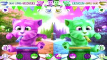 Talking Ginger and Talking Angela Cats Color Reactions Funny Videos 2016
