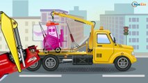 The Blue Police Car and The Tow Truck - Service Vehicles. Little Cars & Trucks Cartoon for kids