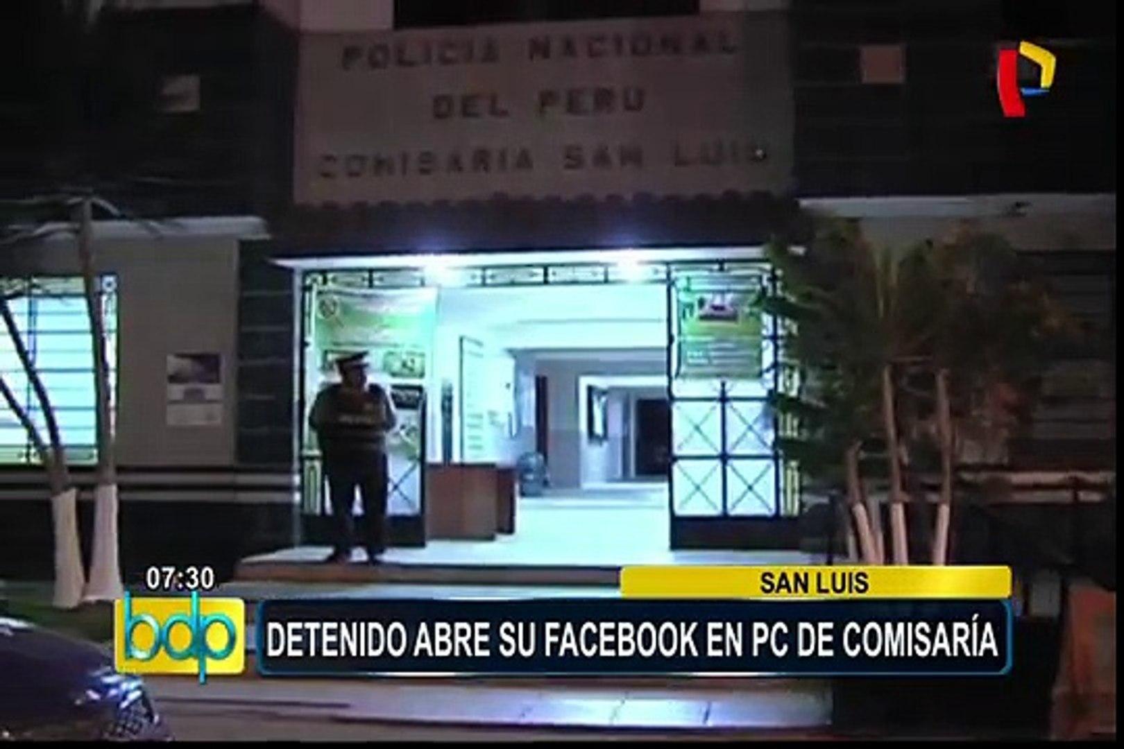 San Luis: detenido abre su Facebook en computadora de comisaría