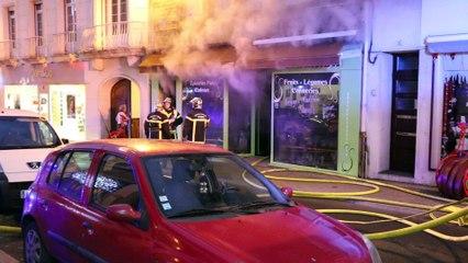 Incendie rue du pot d'Etain à Avranches