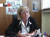 Marine Le Pen évoque le futur du FN