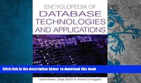 PDF [DOWNLOAD] Encyclopedia Of Database Technologies And Applications FOR IPAD