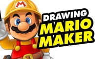 Speed drawing SUPER MARIO MAKER Dibujar Super Mario Bros