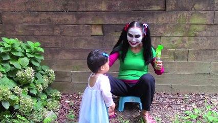 Bad Baby Elsa pranks Joker Girl w  Spiderman & Frozen Elsa funny superhero video