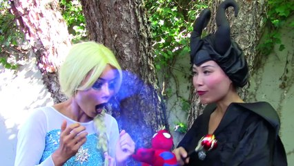 Bad Baby Elsa w  Spiderman, maleficent, catwoman, cat baby funny superhero video