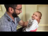 Dad Makes His Tiny Baby Smile With Lovely Story