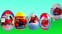 Finger Family Spider Man Surprise Eggs Cartoon Animation Nursery Rhymes & Songs For Children