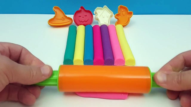 Learning Colours with Play Dough DIY Clay Modelling Art and Halloween Cookie Cutters for Kids