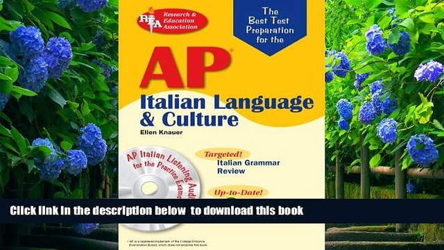 [Download]  AP Italian Language and Culture w/ Audio CDs (Advanced Placement (AP) Test