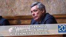 Payé 5.100€ par mois, Henri Guaino n'arrive à «rien mettre de côté»