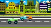 Pelleteuse, Tracteur et Camion - Dessin animé pour enfants en français - La voiture pour enfants