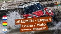 Resumen de la Etapa 4 - Coche/Moto - (San Salvador de Jujuy / Tupiza) - Dakar 2017