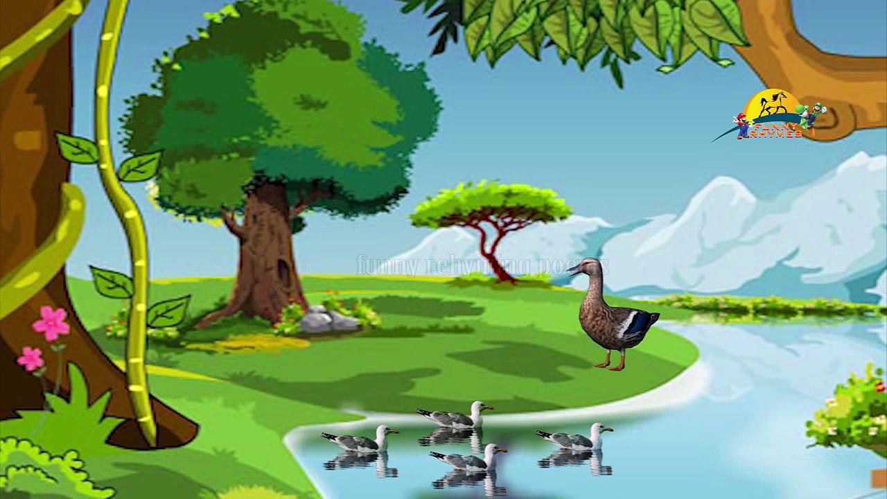 Five Little Ducks nursery children rhyme | Five little ducks kids song lyrics