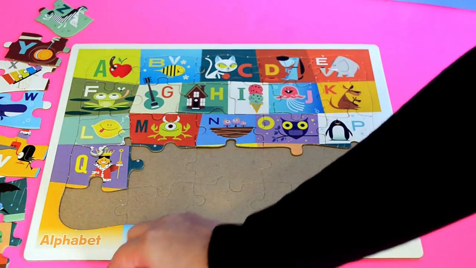 Education Alphabet ABC puzzle-kids z fun-Preschool and toddler Learning