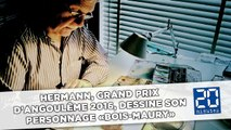 Hermann, Grand prix d'Angoulême 2016, dessine son personnage «Bois-Maury»