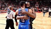 Russell Westbrook EURO STEPPED by James Harden, Responds with INSANE Trey in Epic MVP Duel