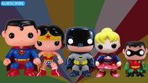 FINGER FAMILY NURSURY RHYMES Superman Batman Wonder Woman Robin