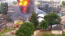 Incendie dans une usine chimique à...