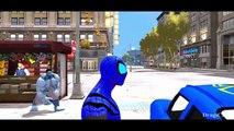 NEW Blue Lightning McQueen Cars Blue Spiderman & Blue HULK Nursery Rhymes Disney Cars