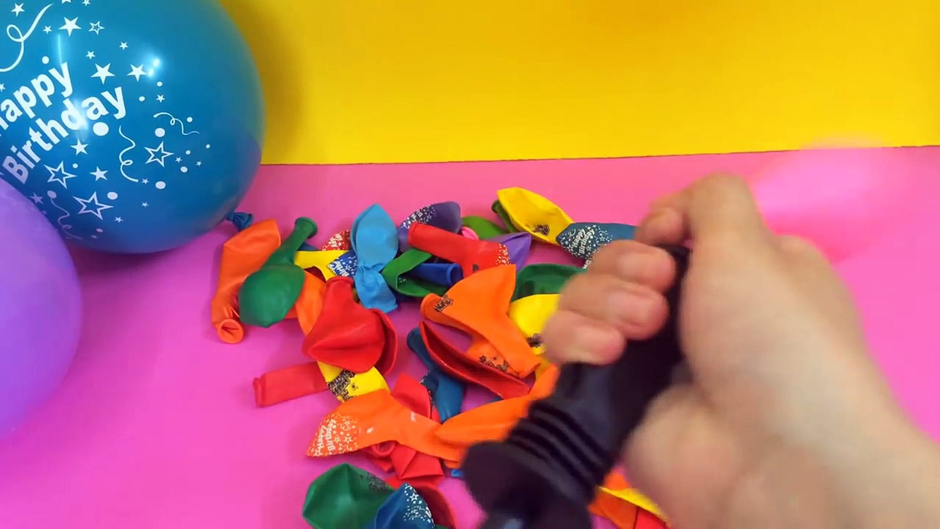 Happy Birthday Balloon Learn Colors and Surprise Toy Education For Kids
