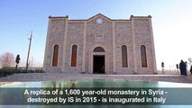 Replica of Syrian church razed by IS opens in Italy