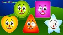 Shapes Finger Family Nursery Rhyme - Kids Animation Rhymes Finger Family Song - Children's Songs