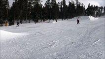 Saut à ski sur un tremplin (Fail)