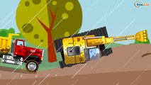 The Yellow Tow Truck Accident on the road - Service Vehicles. Little Cars & Trucks Cartoon for kids