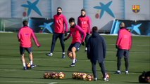 FC Barcelona training session: Last training session before the trip to Villarreal